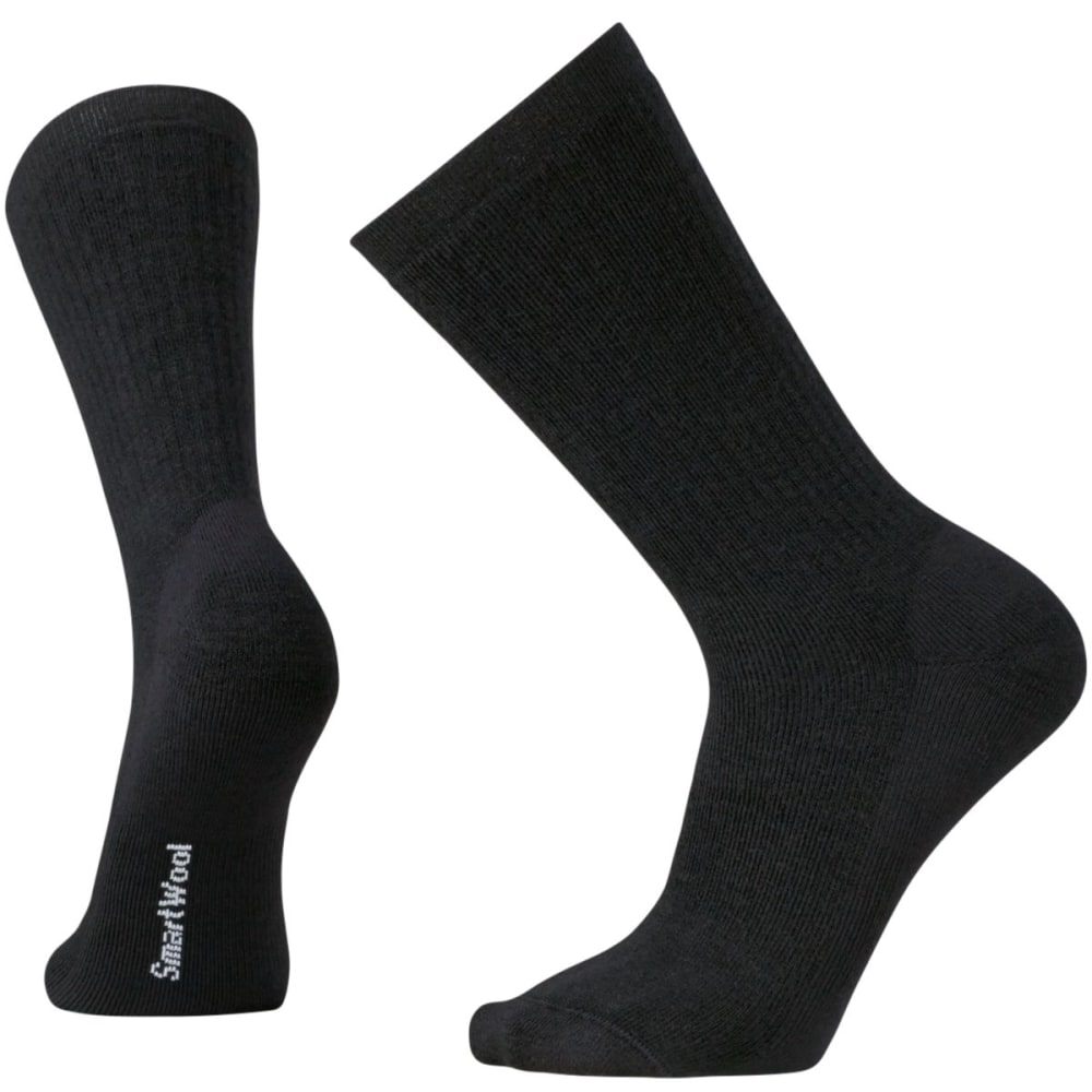 SMARTWOOL Men's Heavy Heathered Rib Socks - BLACK-001