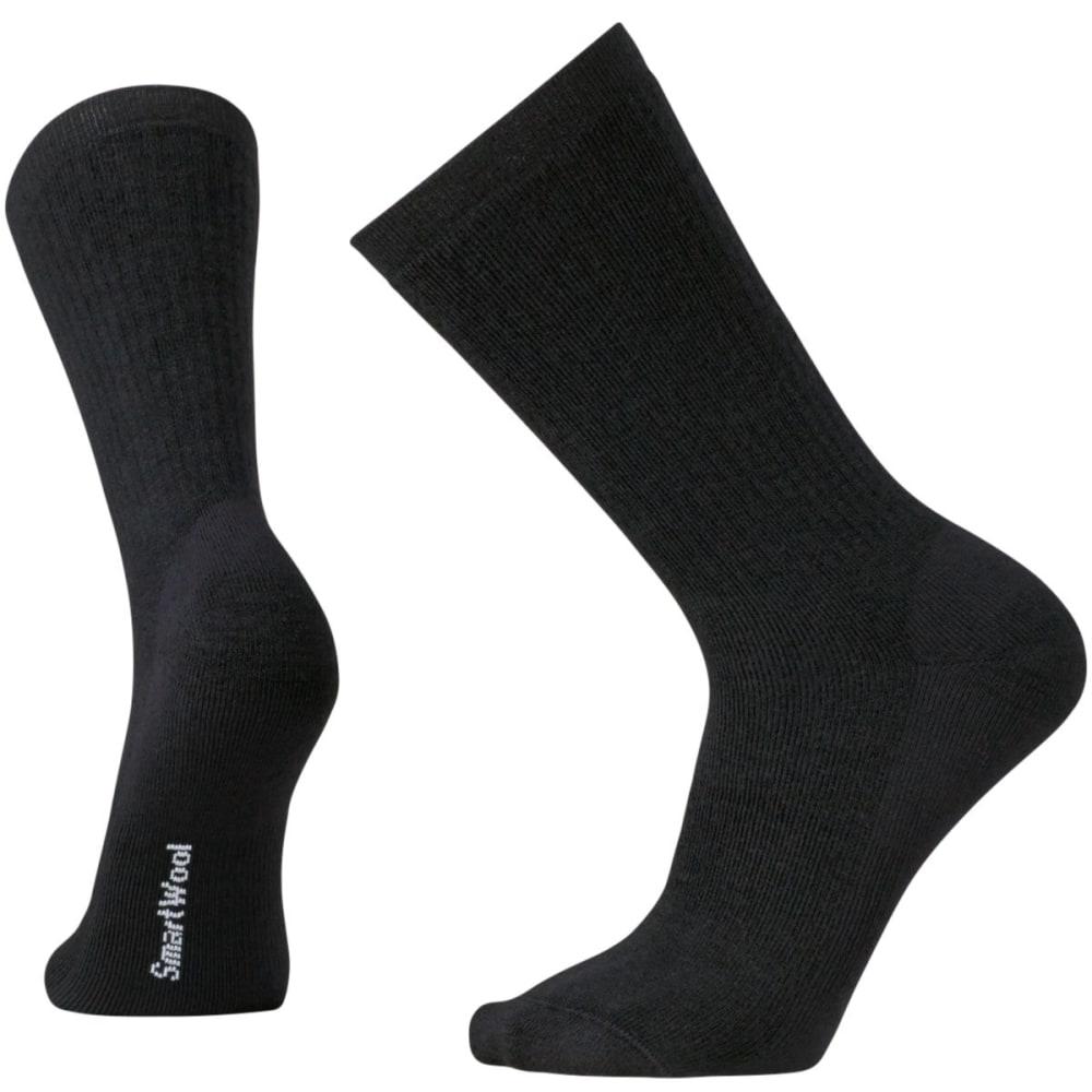 SMARTWOOL Men's Heavy Heathered Rib Socks - BLACK-001