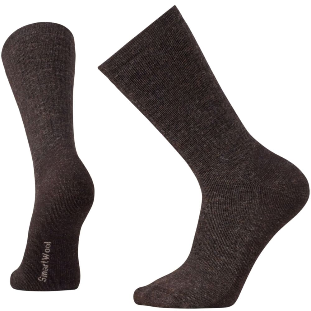 SMARTWOOL Men's Heavy Heathered Rib Socks - CHESTNUT-207