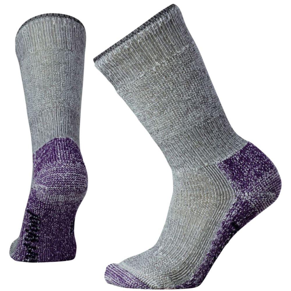 SMARTWOOL Women's Mountaineering Extra Heavy Crew Socks - MEDGRY/MTN PURP
