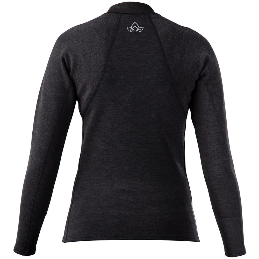 NRS Women's HydroSkin 0.5 Long-Sleeve Shirt - CHARCOAL HEATHER