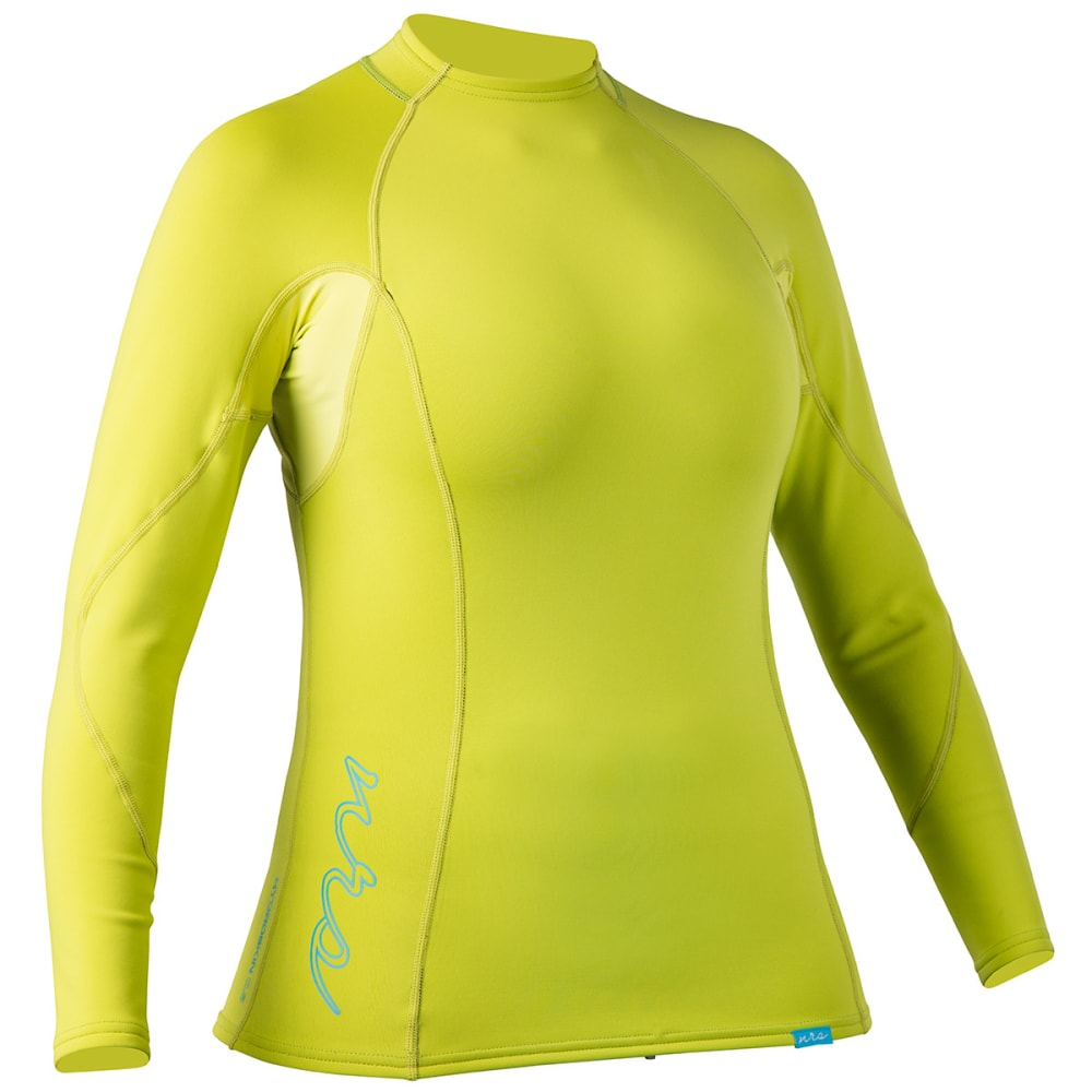 NRS Women's HydroSkin 0.5 Long-Sleeve Shirt - LIMEADE