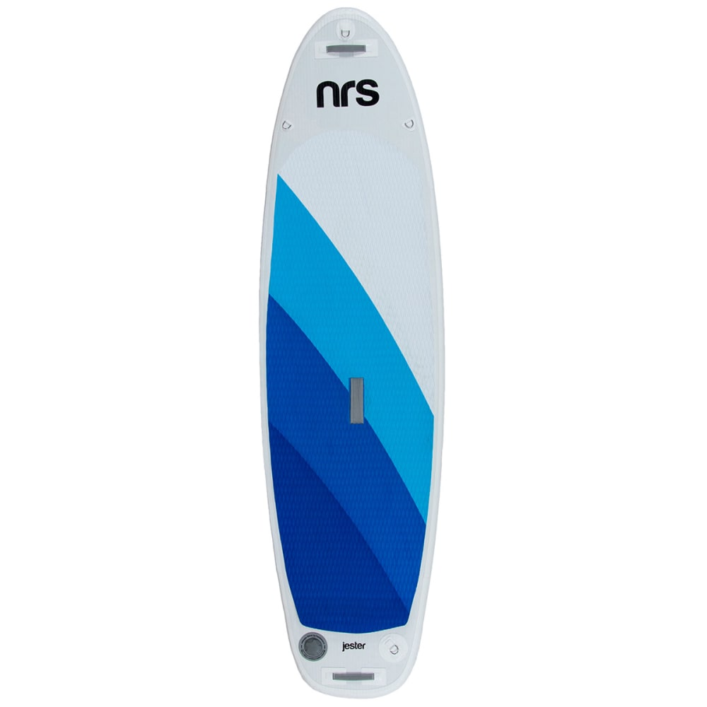NRS Youth Jester Inflatable Stand Up Paddleboard - WHITE/BLUE