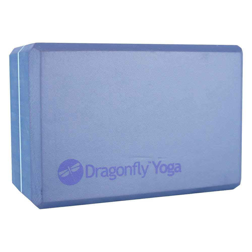 """YOGA DIRECT Dragonfly 4"""" Foam Yoga Block - BLUE"""