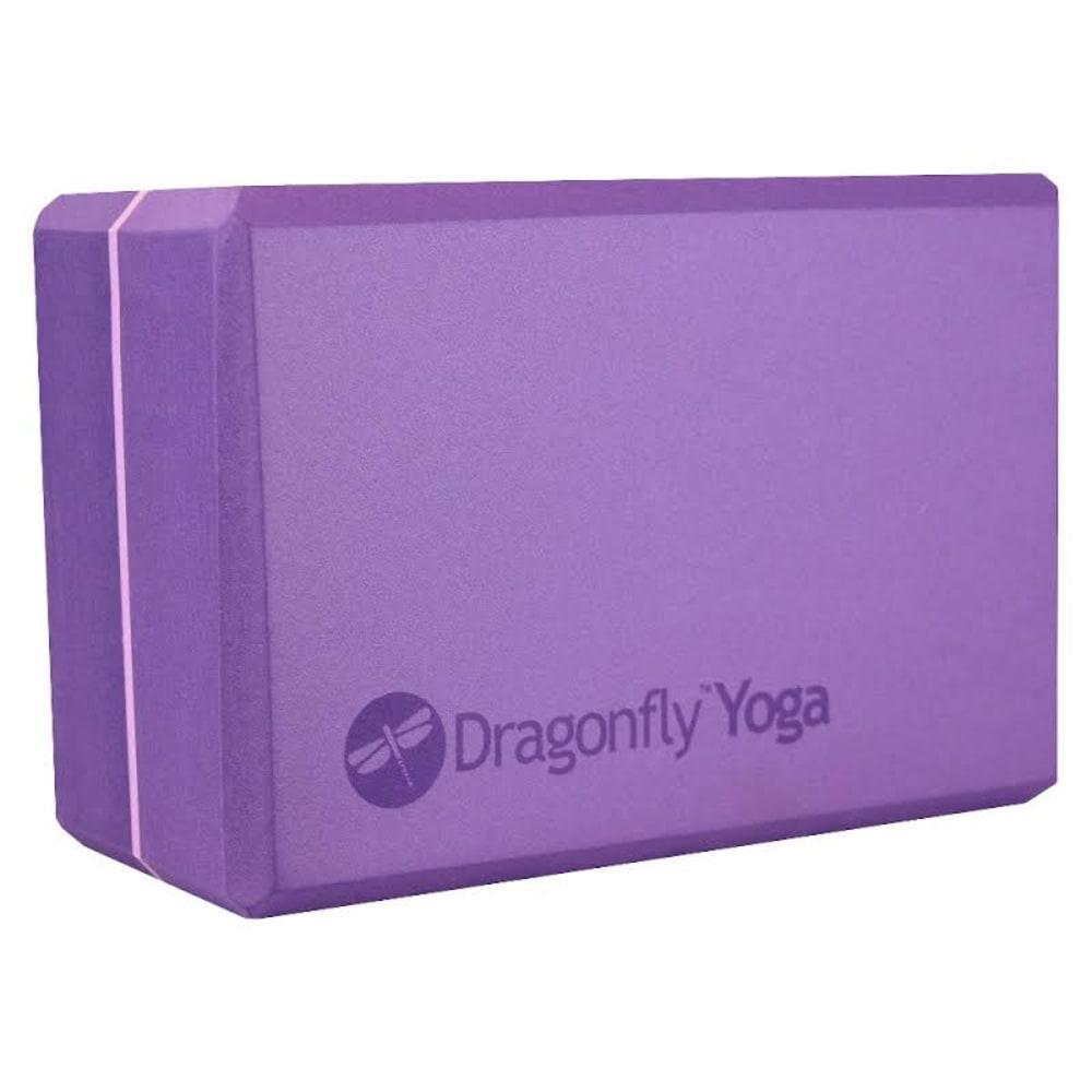 "YOGA DIRECT Dragonfly 4"" Foam Yoga Block - PURPLE"