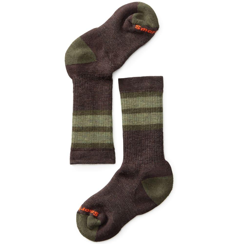 SMARTWOOL Kids' Striped Hike Medium Crew Socks - CHESTNUT-207
