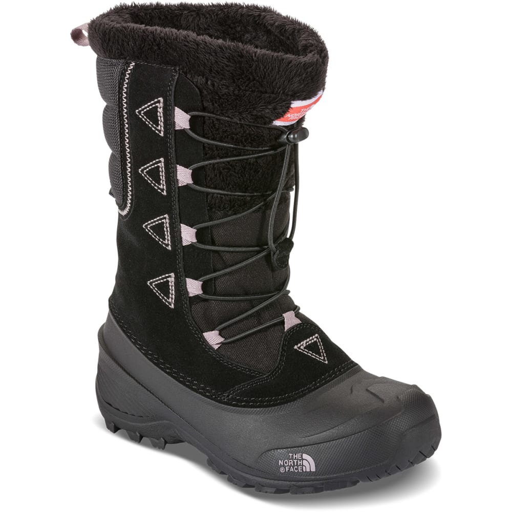 THE NORTH FACE Girls' Shellista Lace II Boots, Black/Grey - BLACK