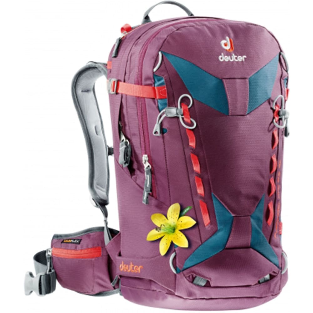 DEUTER Women's Freerider Pro 28 SL Backpack - BLACKBERRY-ARCTIC