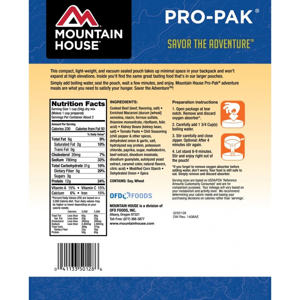 MOUNTAIN HOUSE Pro-Pak Chili Mac - NO COLOR