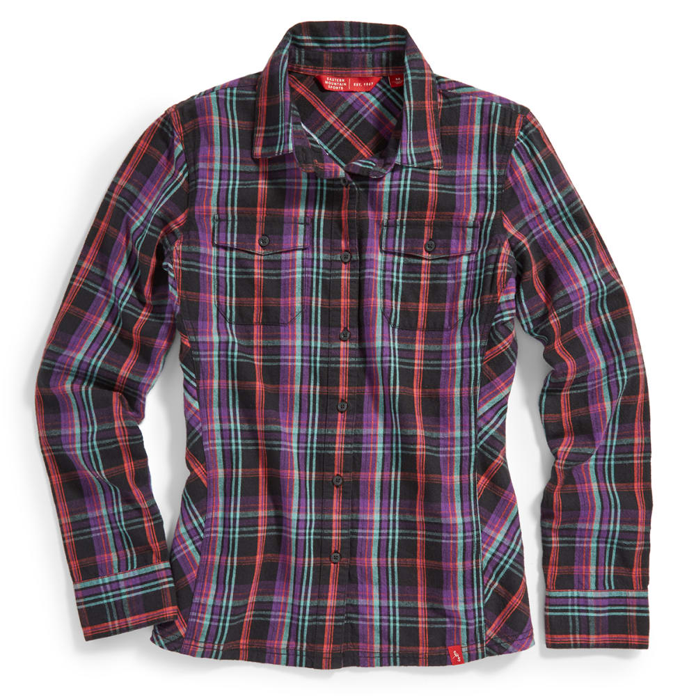 EMS Women's Timber Flannel Shirt - BLACK PLAID