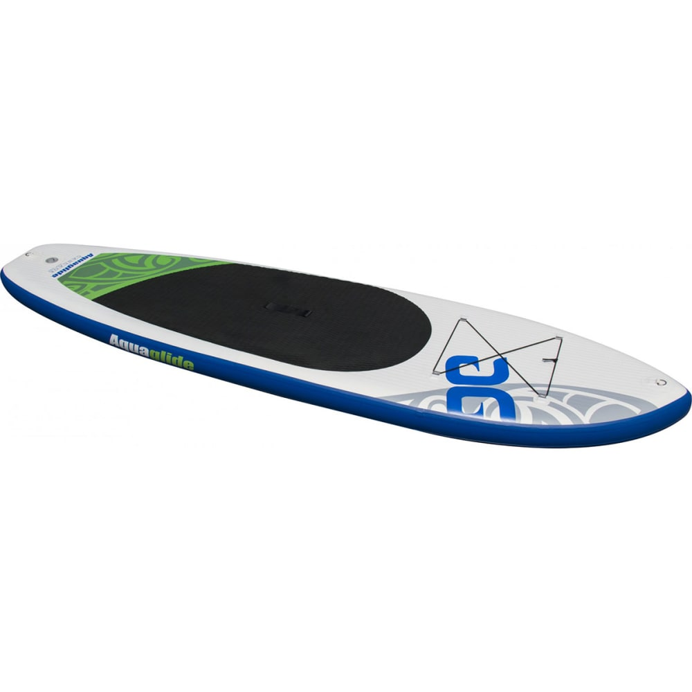 "AQUAGLIDE Cascade 11'0"" Inflatable SUP Board - GREEN/WHITE/BLUE"
