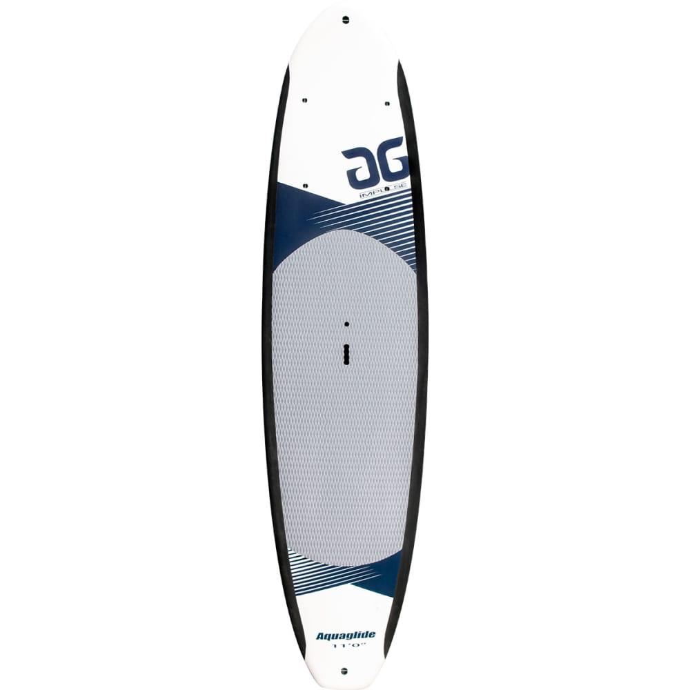 "AQUAGLIDE Impulse 11'0"" SUP Board - WHITE/NAVY"