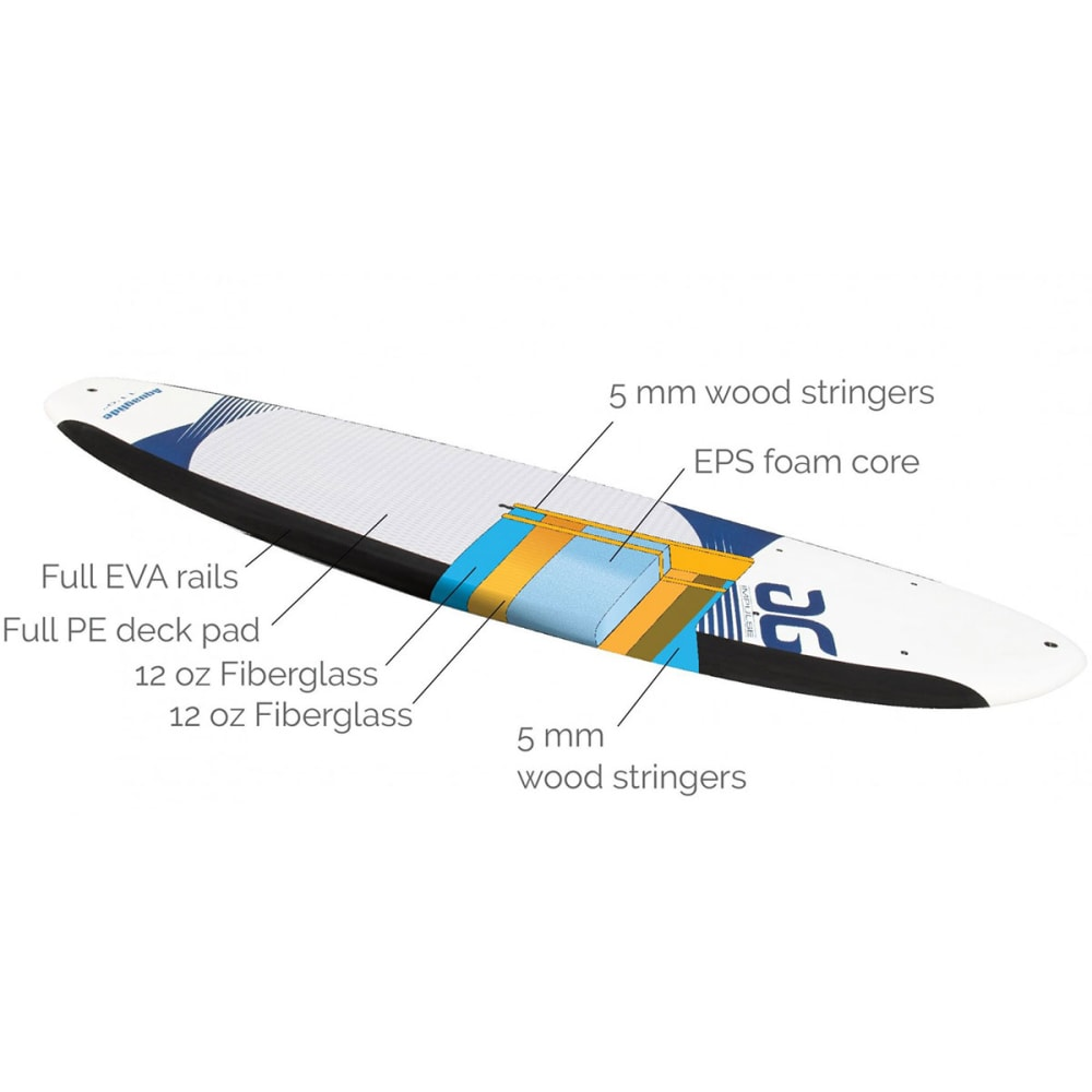 "AQUAGLIDE Impulse 12'0"" SUP Board - WHITE/NAVY"
