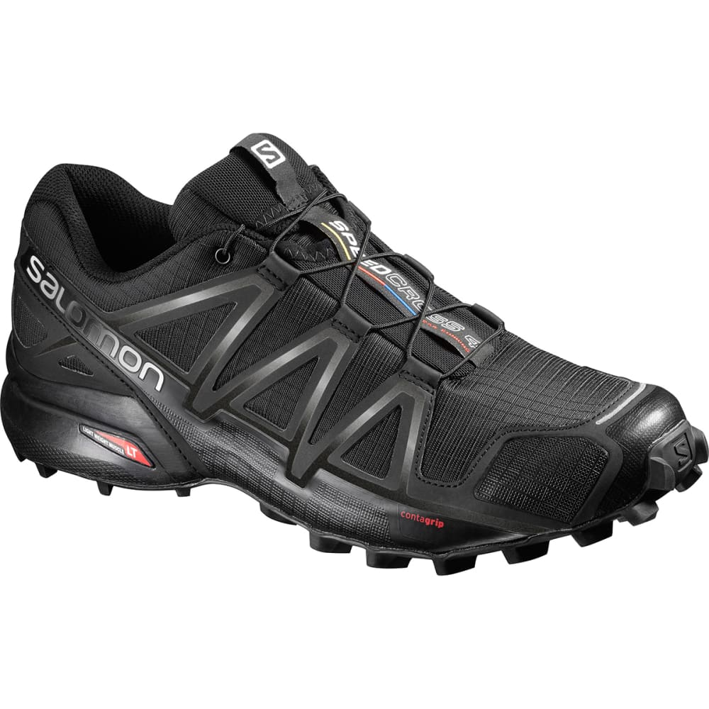 SALOMON Men's Speedcross 4 Trail Running Shoes, Black - BLACK