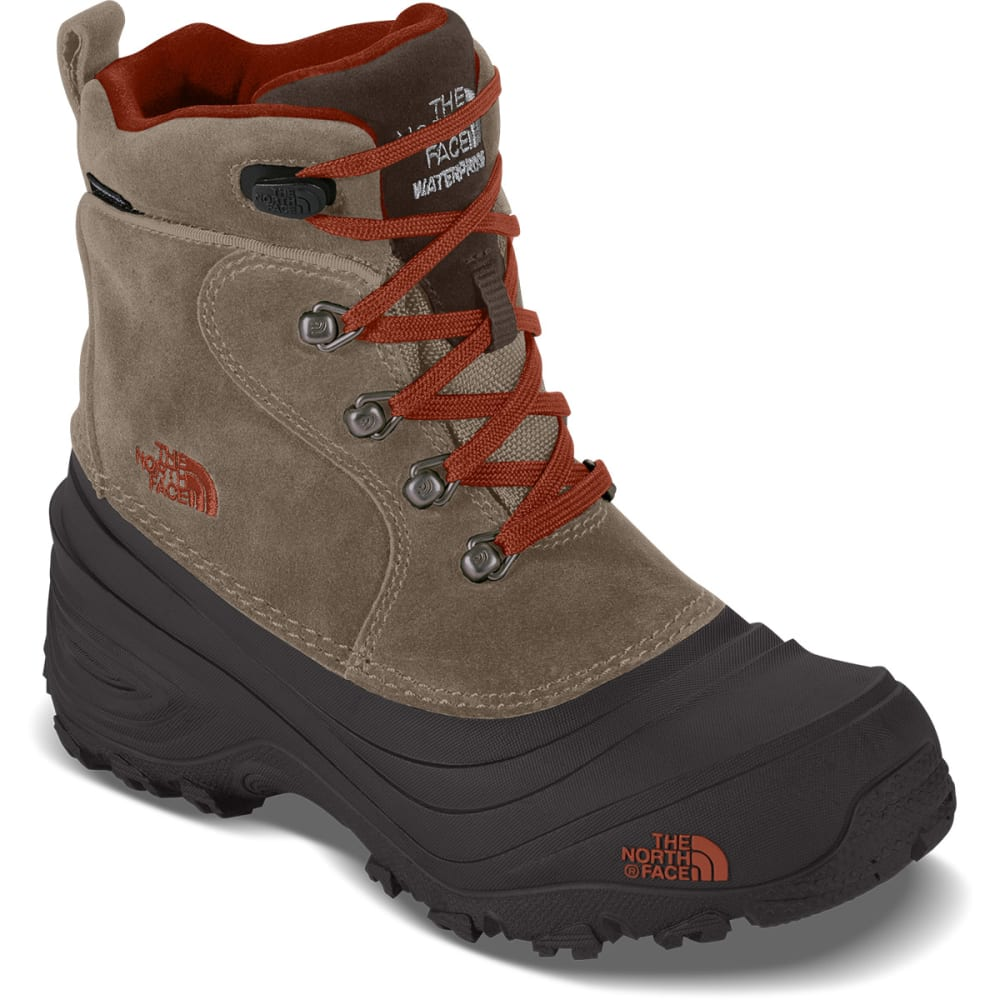 THE NORTH FACE Kids' Chilkat Lace II Storm Boots, Mud Pack Brown - MUD PACK BROWN