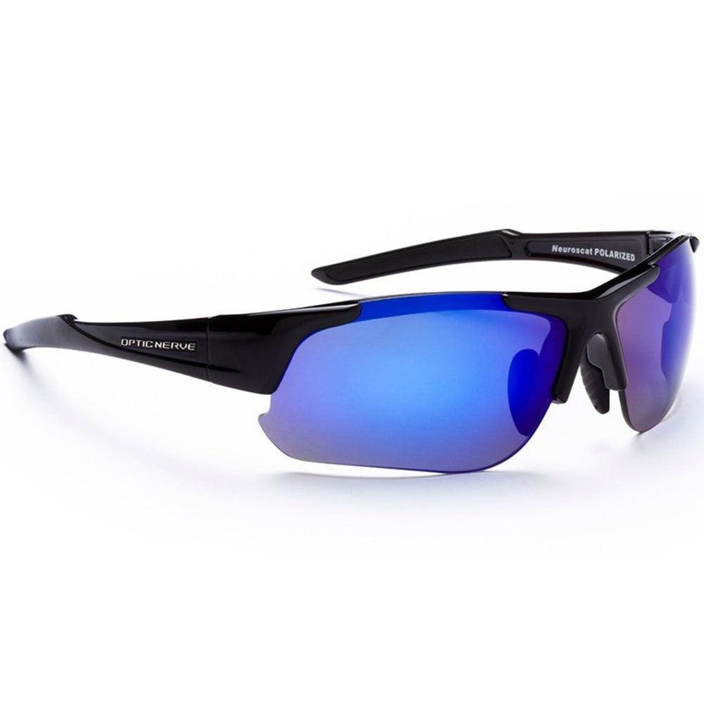 OPTIC NERVE Men's One Flashdrive Polarized Sunglasses - SHINY BLACK