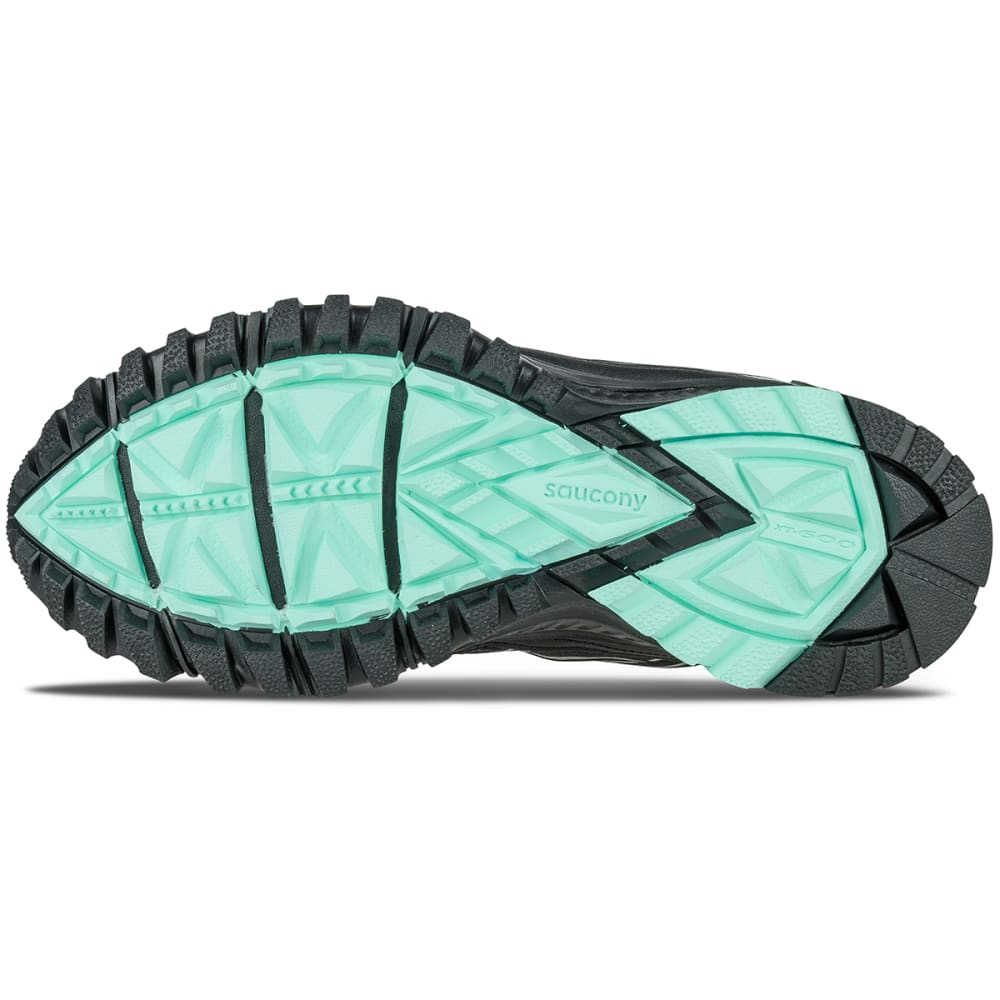 SAUCONY Women's Excursion TR10 Trail Running Shoes, Black/Mint - BLACK/MINT
