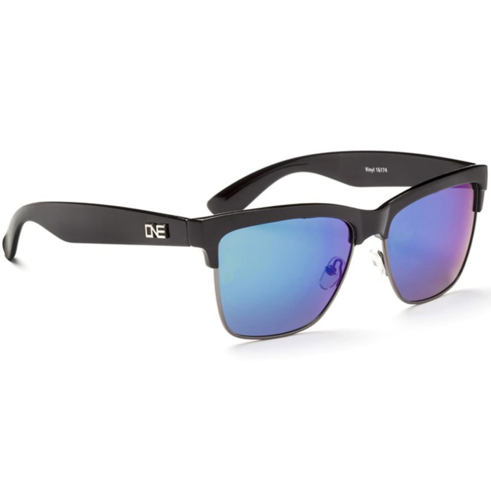 ONE BY OPTIC NERVE Unisex Vinyl Sunglasses - BLACK