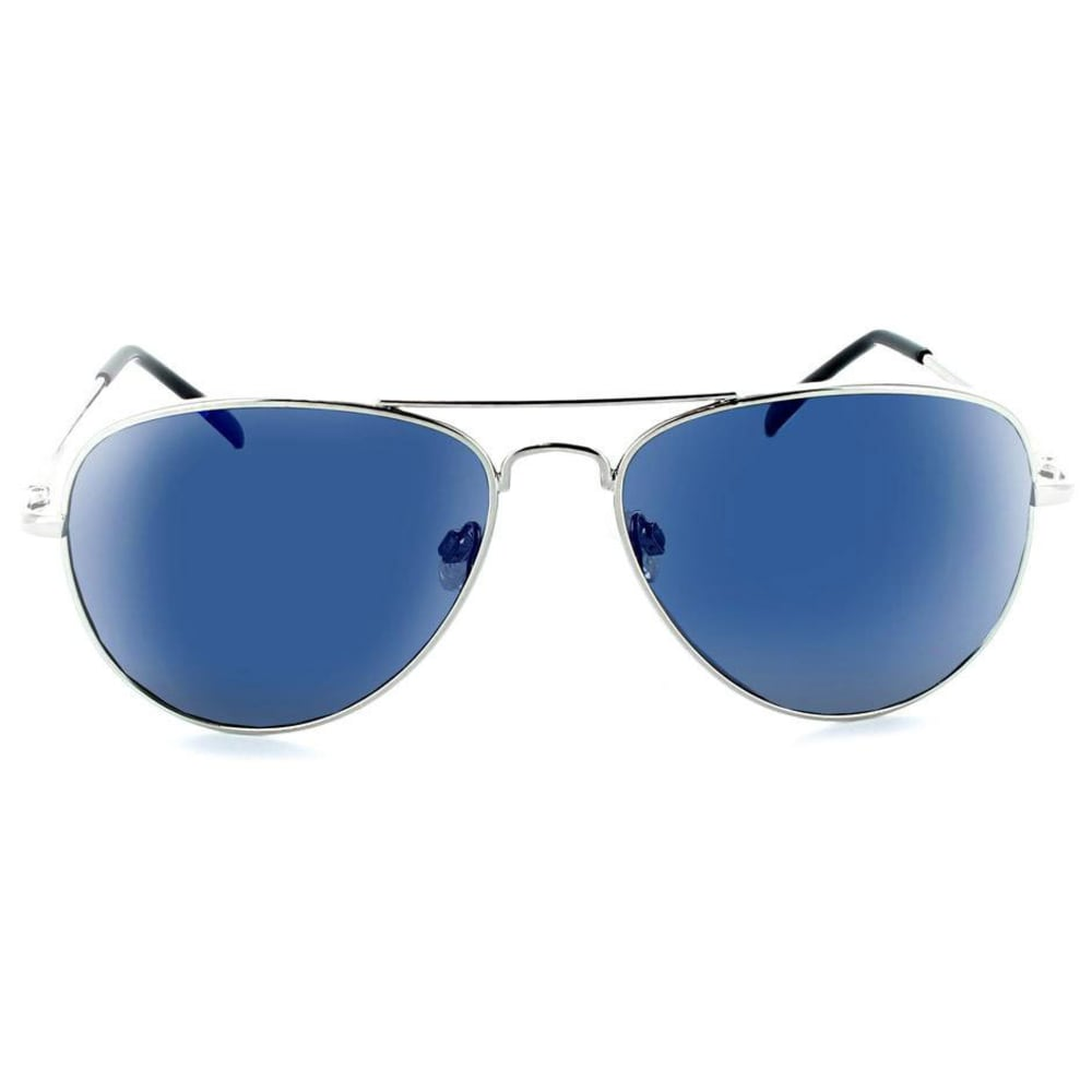 ONE BY OPTIC NERVE Men's Estrada Aviator Sunglasses - SHINY SILVER