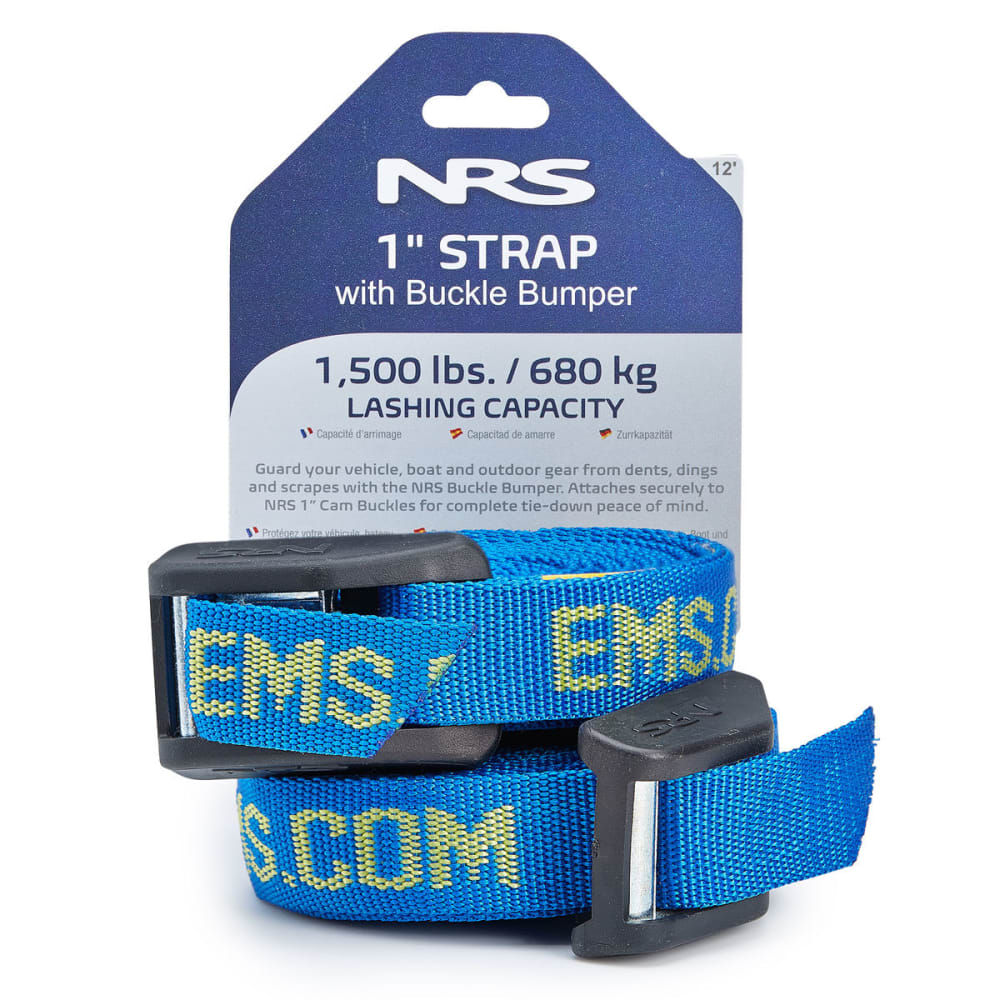 NRS 1 in. HD Buckle Bumper Straps, 12 FT. Pair NO SIZE
