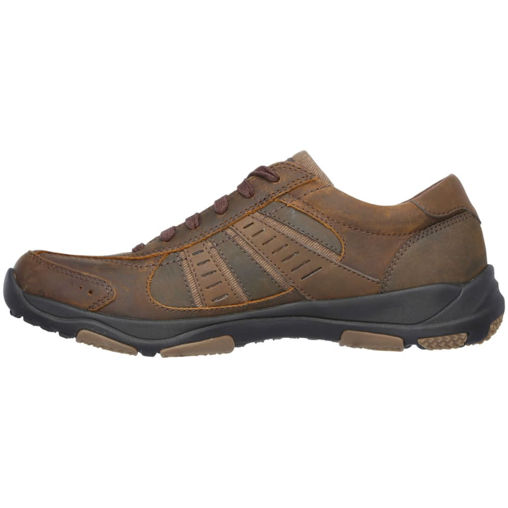 SKECHERS Men's Nerick Lace Up Shoes - DARK BROWN