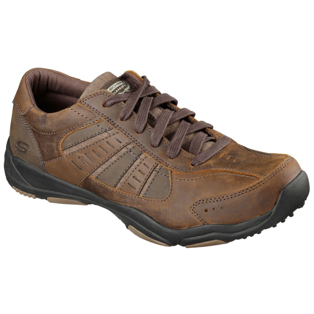 SKECHERS Men's Nerick Lace Up Shoes - DARK BROWN