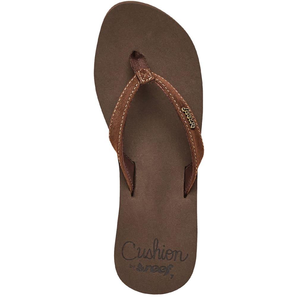 Reef Women's Cushion Luna Sandals, Brown - Brown