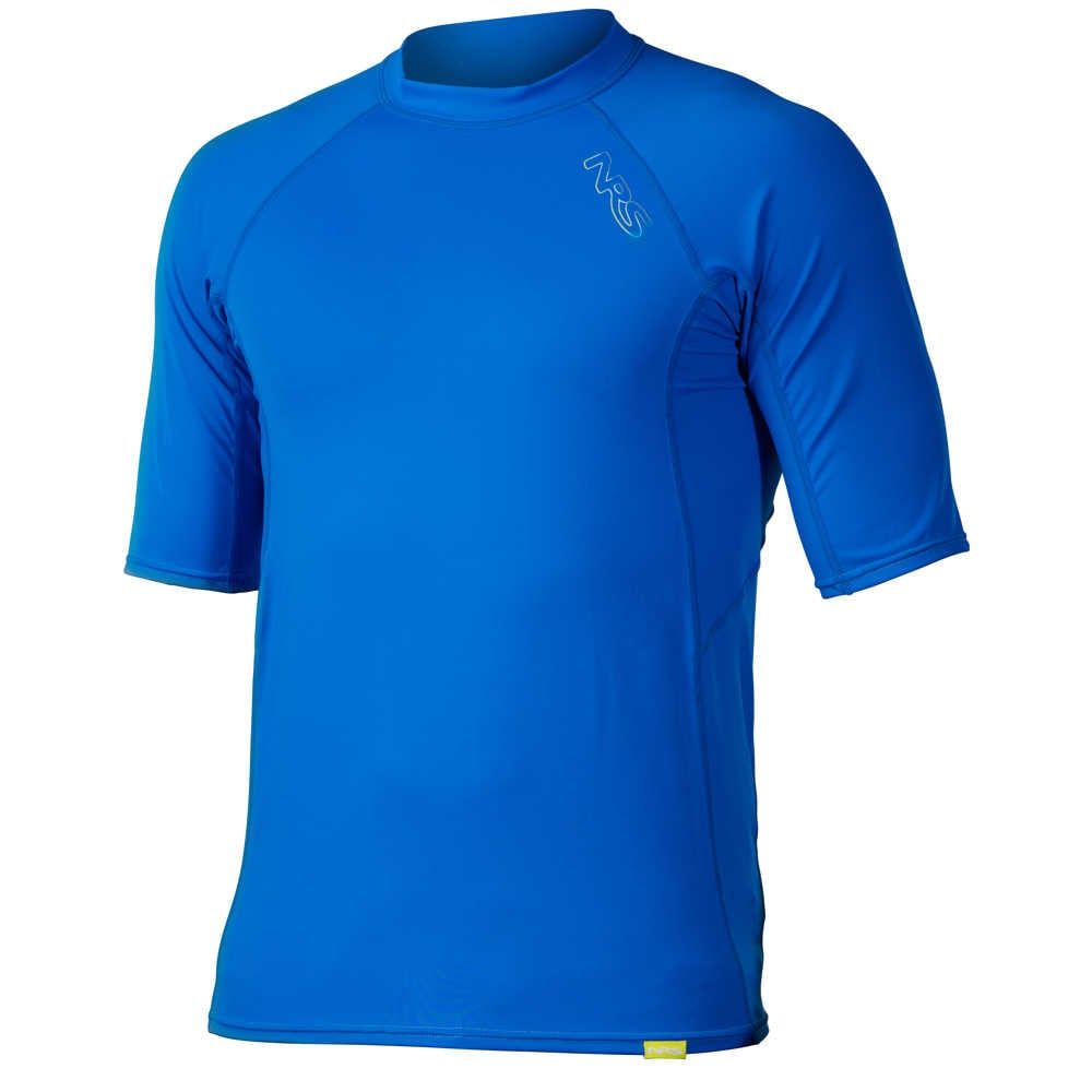 NRS Men's H2Core Short-Sleeve Rashguard - MARINE BLUE