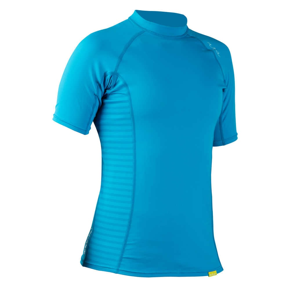 NRS Women's H2Core Short-Sleeve Rashguard - AZURE BLUE