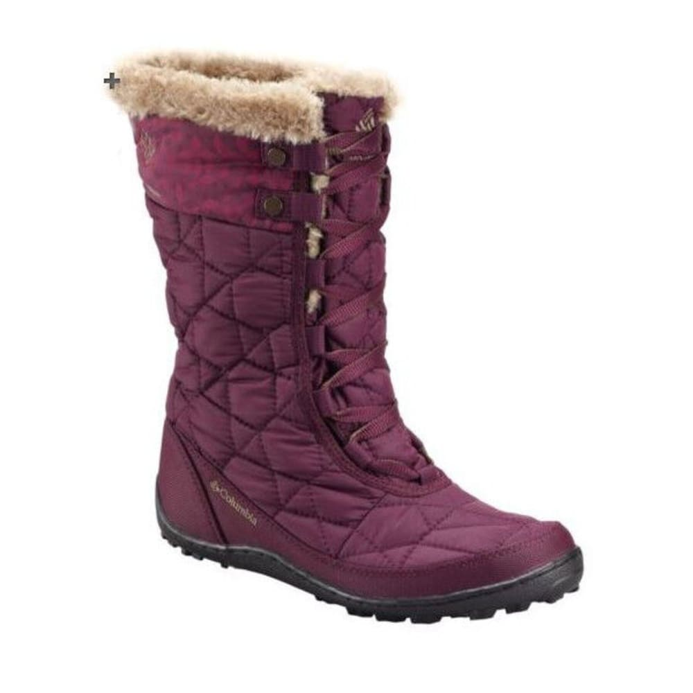 COLUMBIA Women's Minx Mid II Omni-Heat Boots, Plum - PLUM