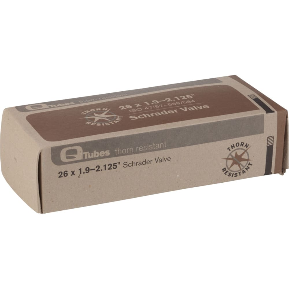 QUALITY BICYCLE PRODUCTS Presta Valve Bike Tube, 26 in. Wheels - NO COLOR