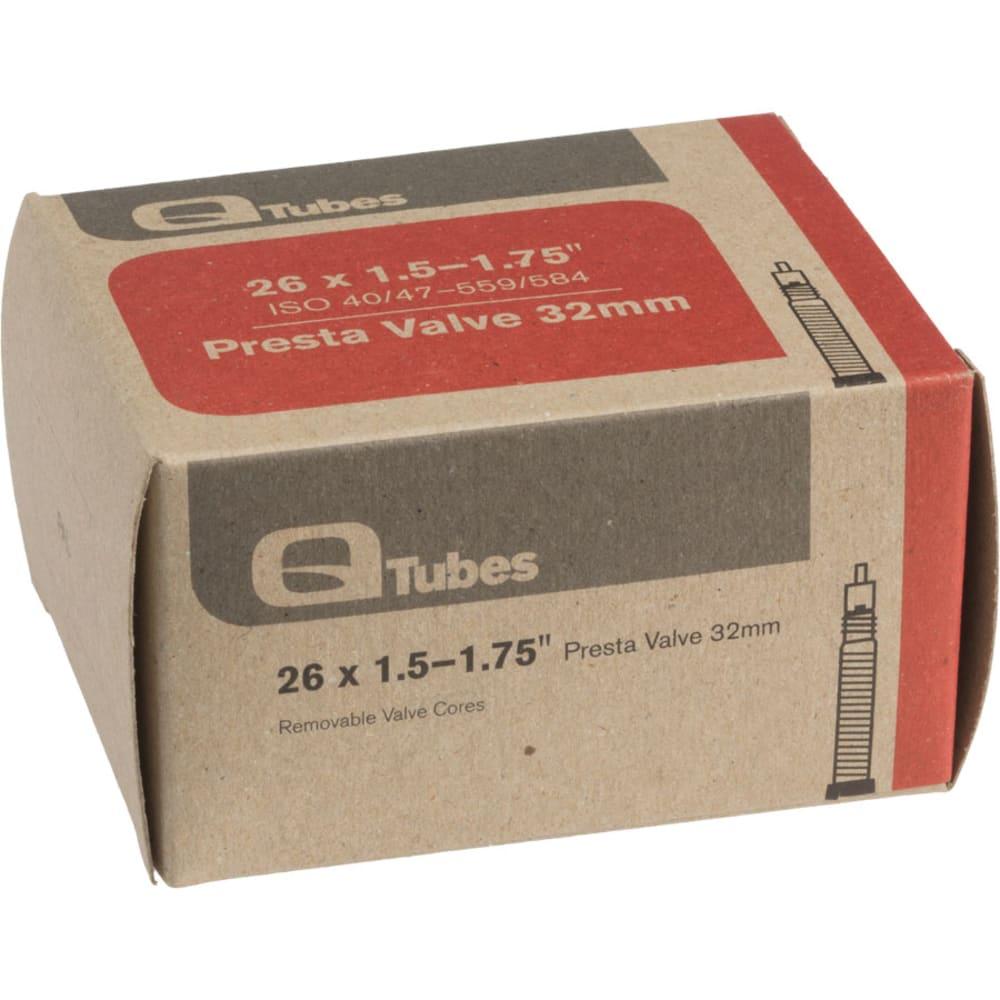 "Q-TUBES 26"" x 1.5-1.75"" 32mm Presta Valve Bicycle Tire Tubes - NO COLOR"