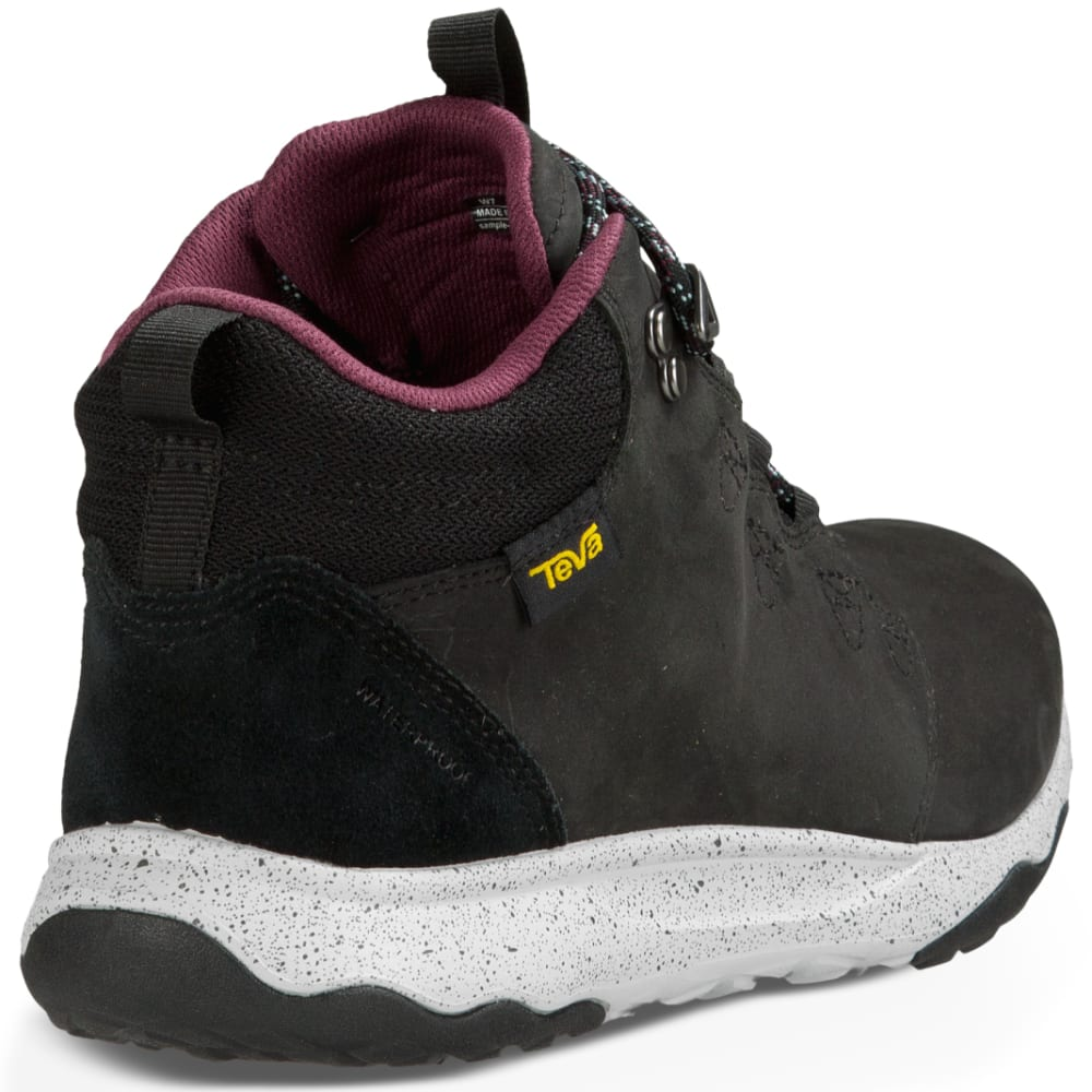 TEVA Women's Arrowood Lux Mid Waterproof Boots, Black - BLACK