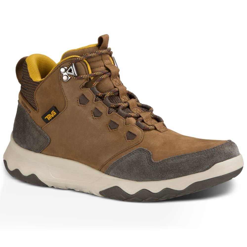 TEVA Men's Arrowood Lux Mid Waterproof Chukka Boots, Brown - BROWN