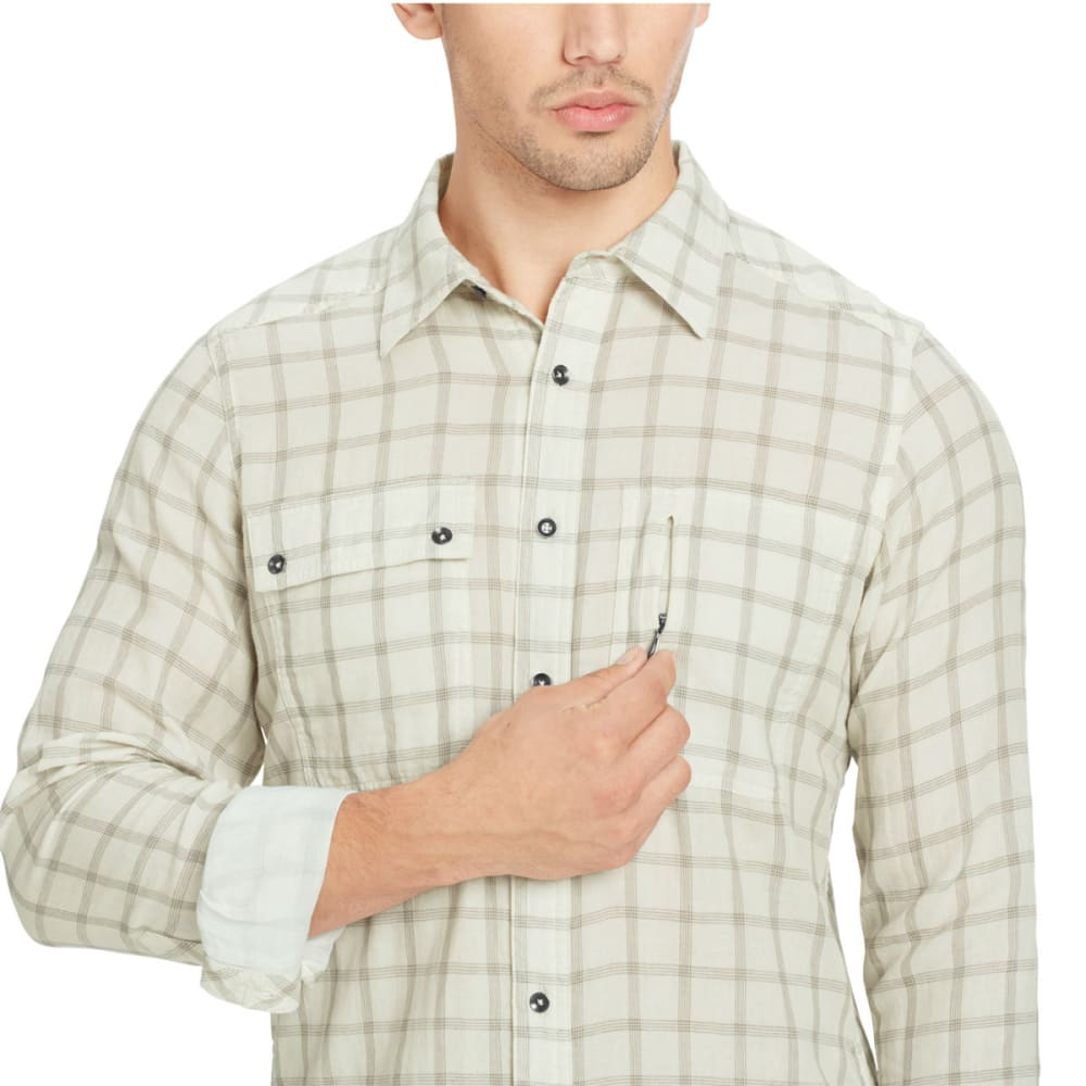 NAU Men's Cohesion Long-Sleeve Shirt - BONE PLAIND