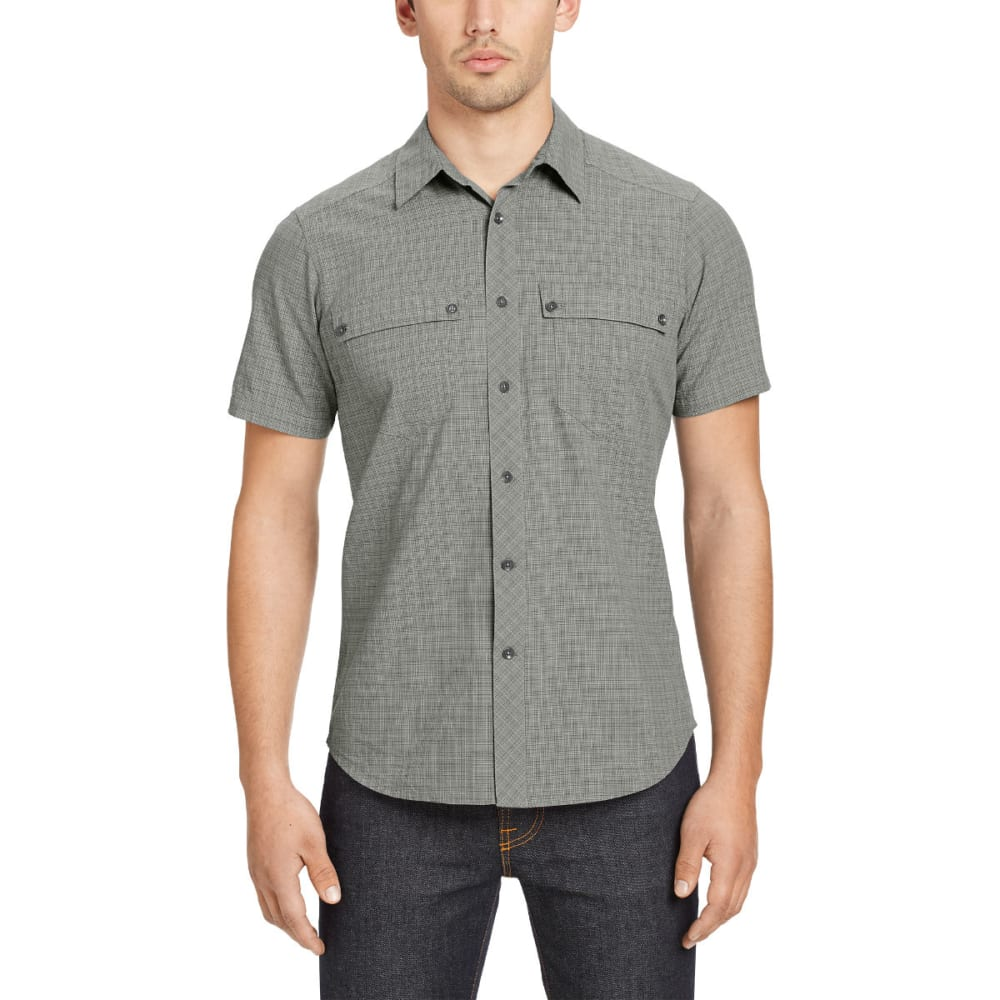NAU Men's Iota Plaid Short-Sleeve Shirt - CAVIAR PLAID