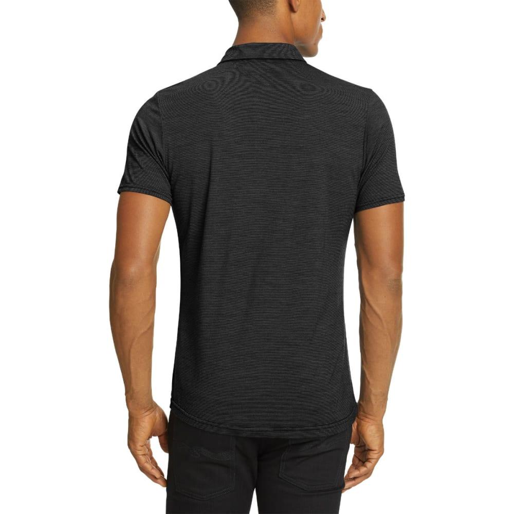 NAU Men's M2 Short-Sleeve Snap Polo - CAVIAR STRIPE