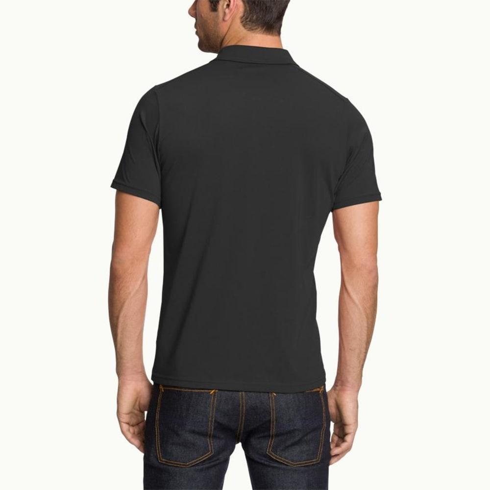 NAU Men's Genus Short-Sleeve Polo - CAVIAR