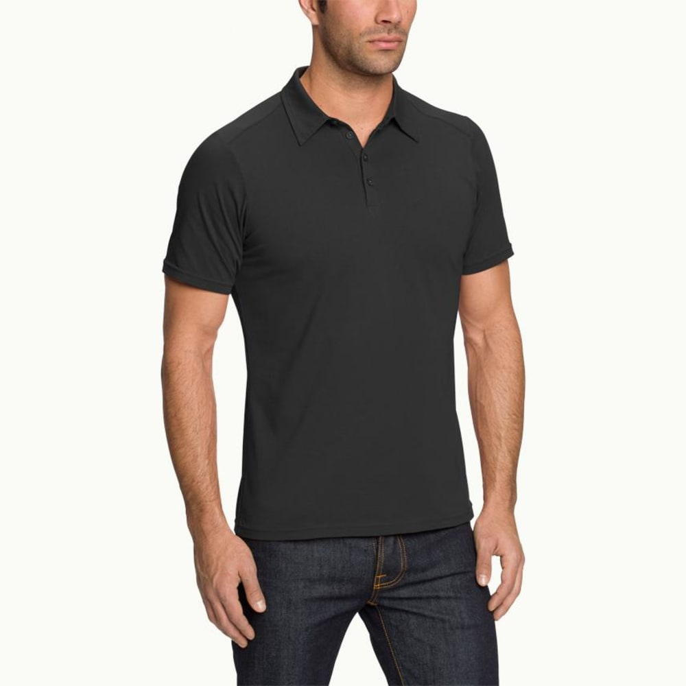 NAU Men's Genus Short-Sleeve Polo - CAVIAR