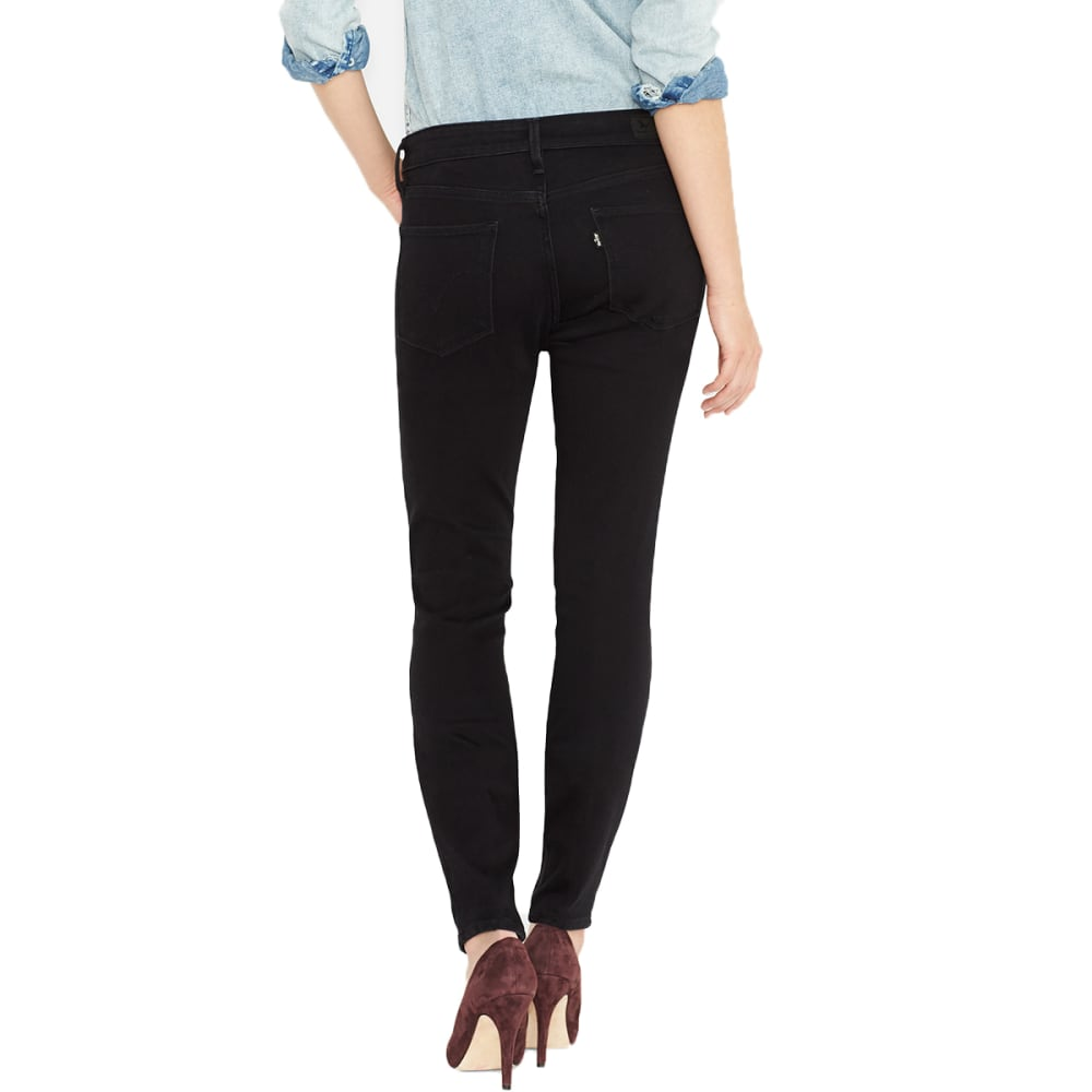 LEVI'S Women's Mid Rise Skinny Jeans, Long Length - 0115-BLACK SATEEN