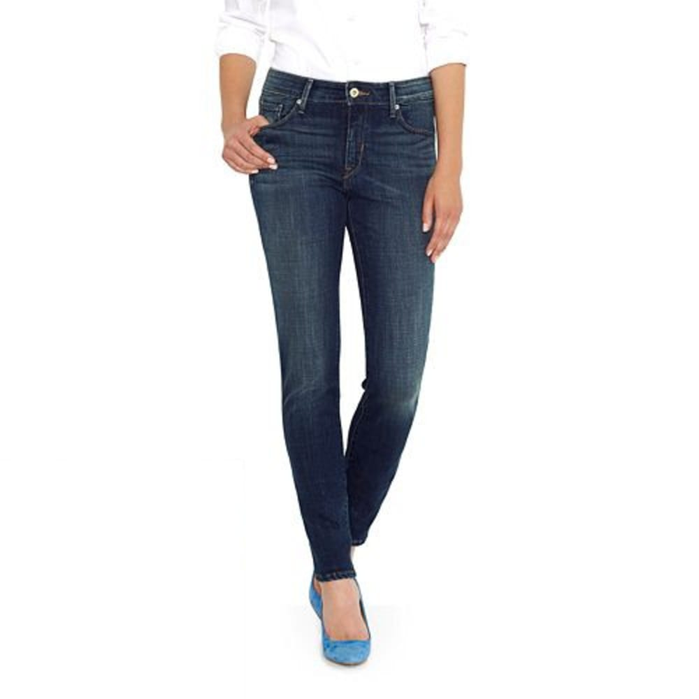 LEVI'S Women's Mid Rise Skinny Jeans, Long Length - 0117-LUCK OUT WEST