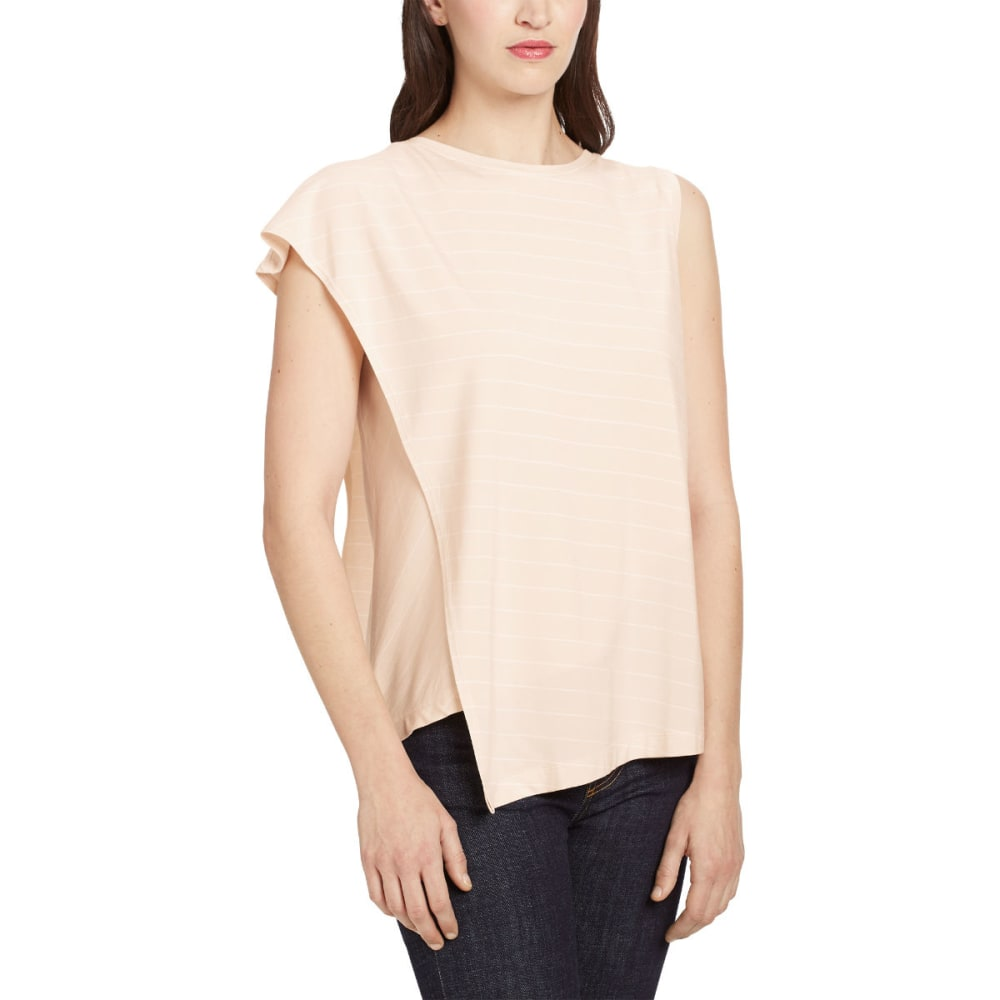 NAU Women's Repose Wrap Top - BLUSH STRIPE