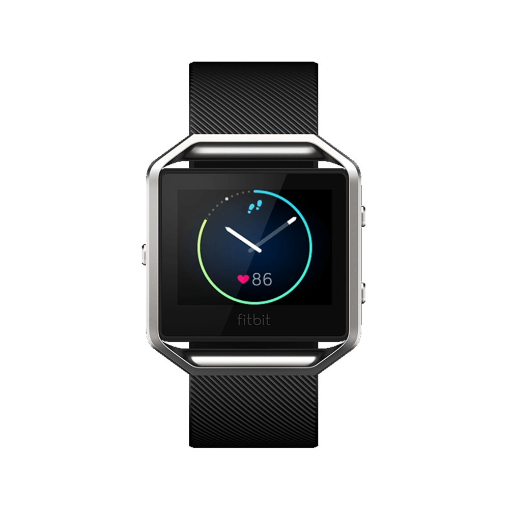 FITBIT Blaze Fitness Watch, Black, Large - BLACK SILVER