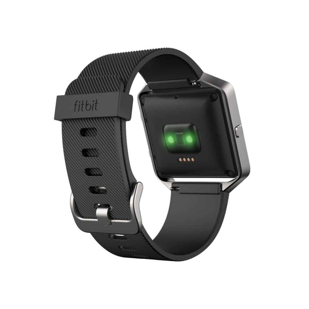 FITBIT Blaze Fitness Watch, Black, Large - BLACK SILVER