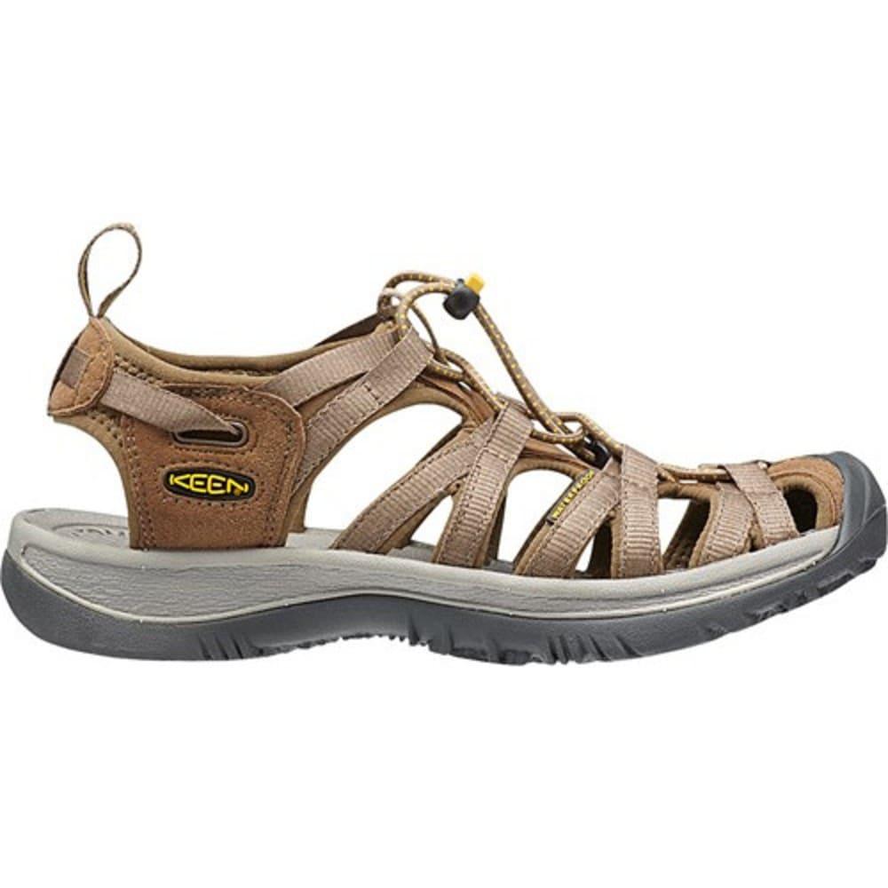 KEEN Women's Whisper Sandals, Coffee Liqueur/Yellow - COFFEE/LIQUEUR YELLO