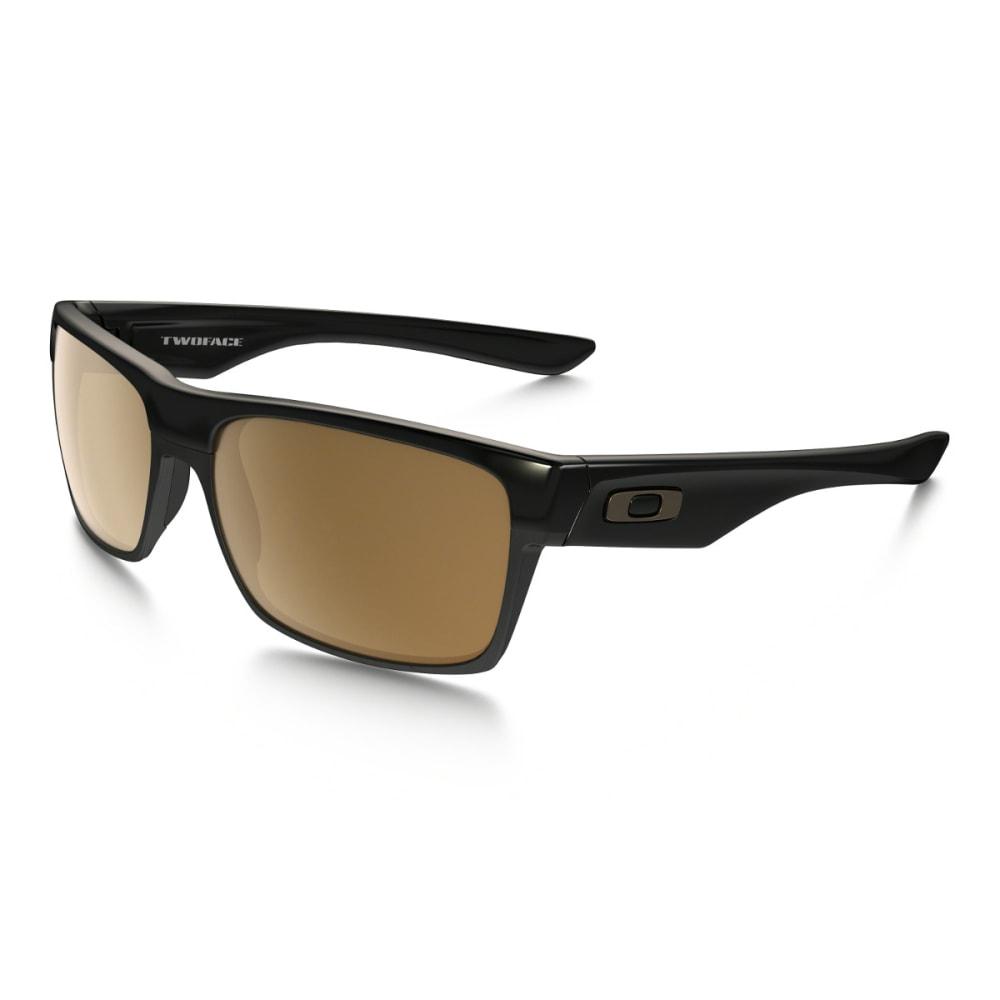 OAKLEY TwoFace Sunglasses Polished Black w/ Dark Bronze - POL BLK W/DK BRONZE