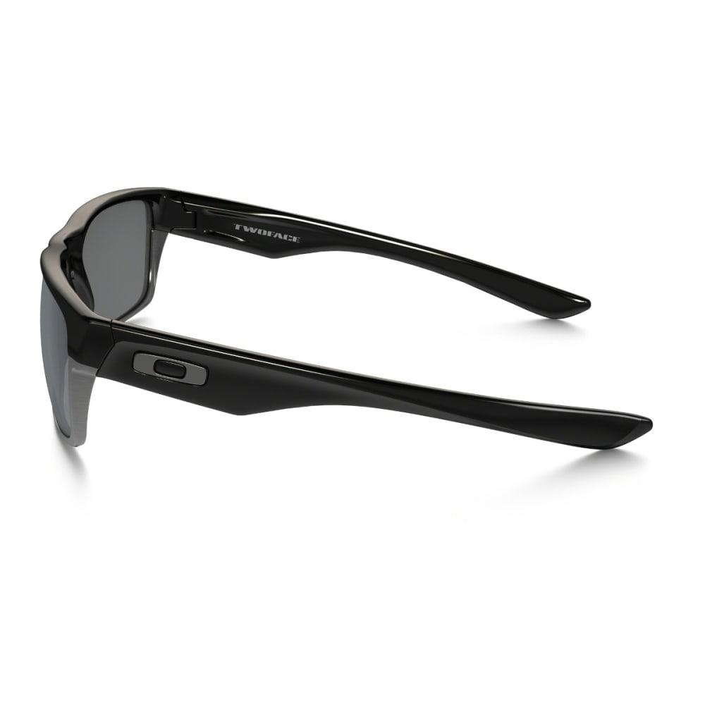OAKLEY TwoFace Sunglasses - POL BLK W/BLK IRIDIU