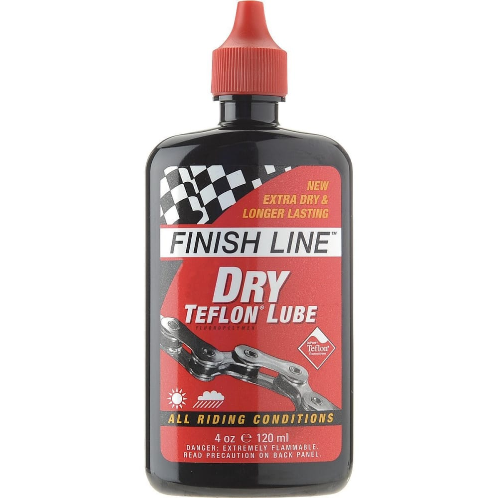 FINISH LINE Dry Teflon Lube 4 OZ. Squeeze Bottle - NO COLOR