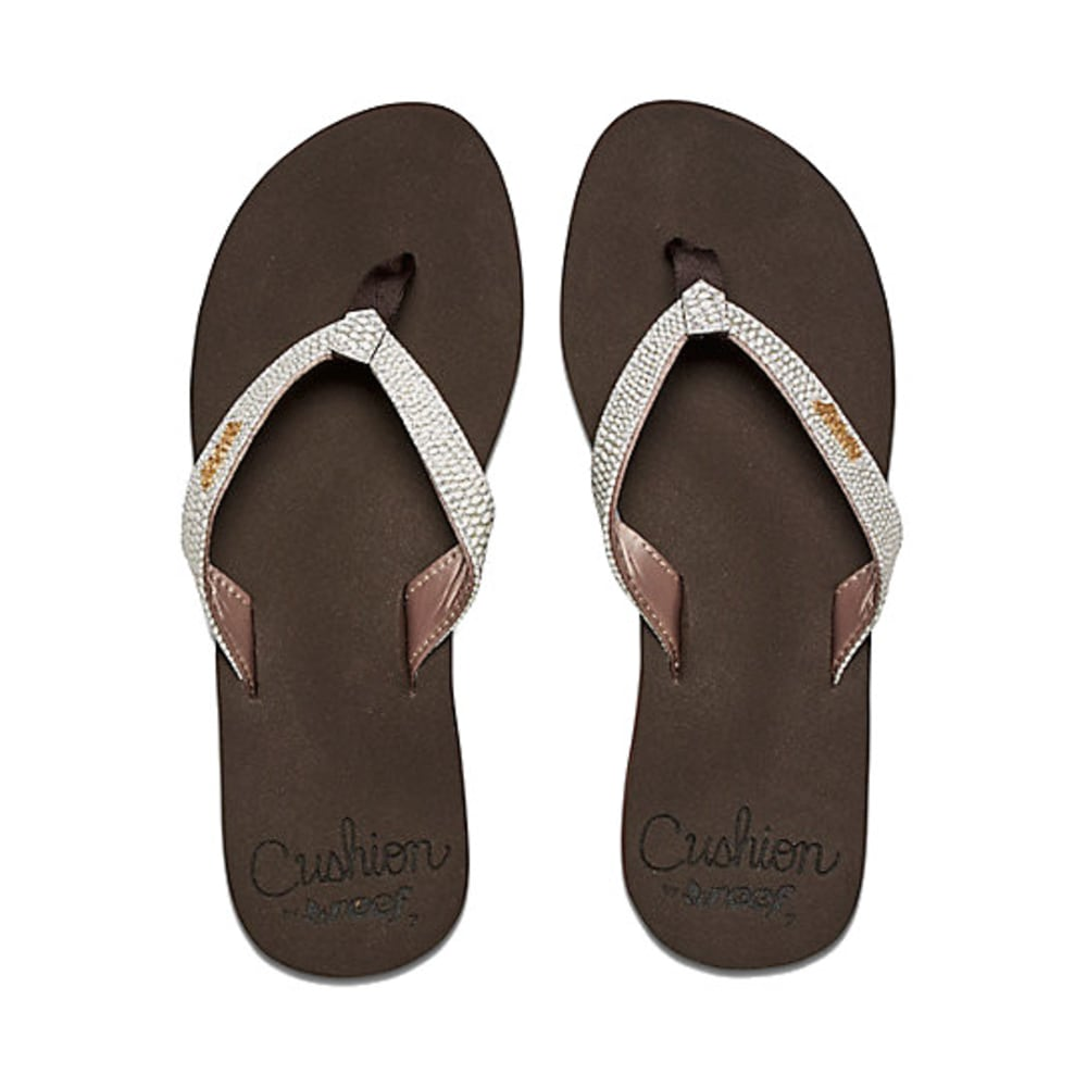 Reef Women S Star Sassy Cushioned Flip Flops Brown White