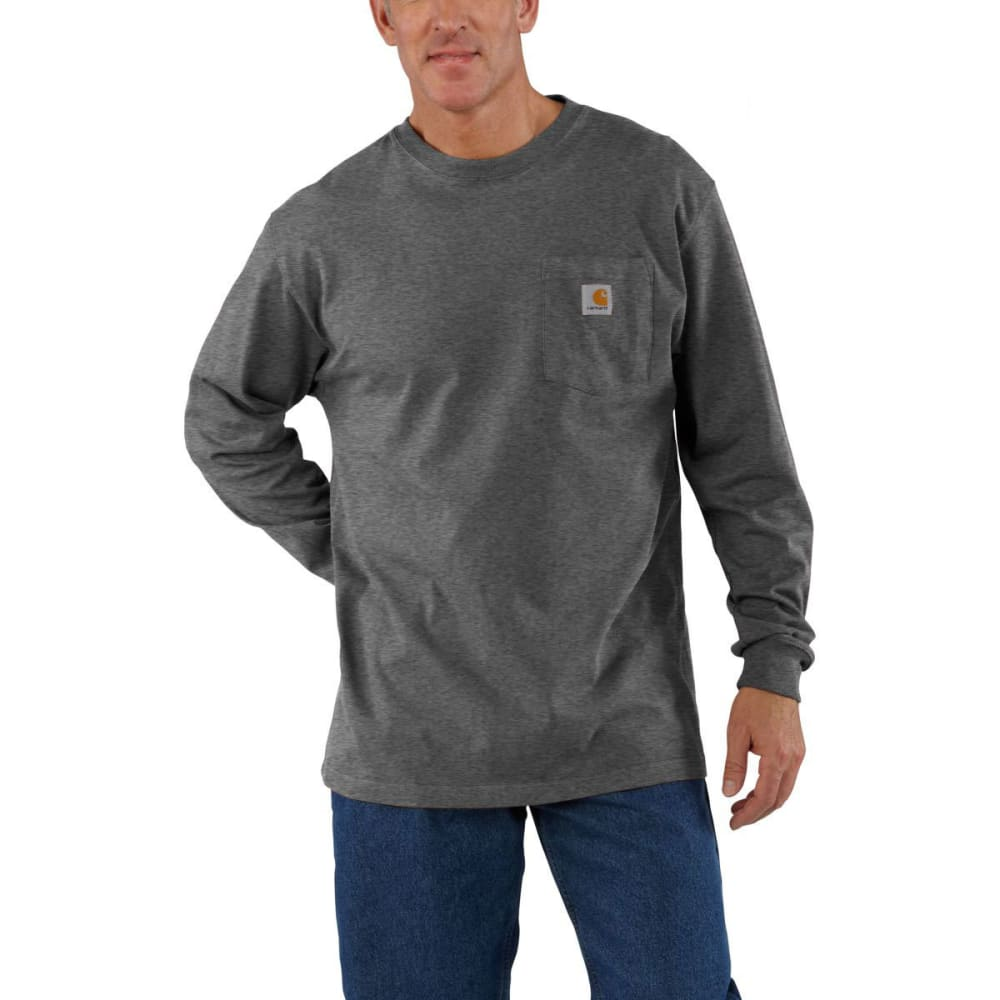 CARHARTT Men's Workwear Pocket Long-Sleeve Tee - CARBON HEATHER CRH